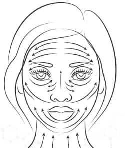 viso e linee di massaggio