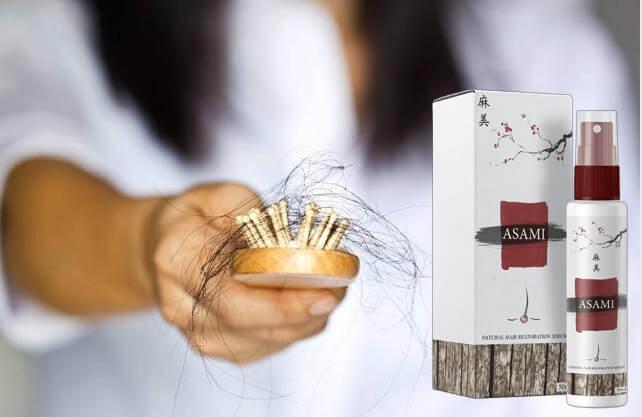 Asami, la perdita di capelli, spazzola per capelli