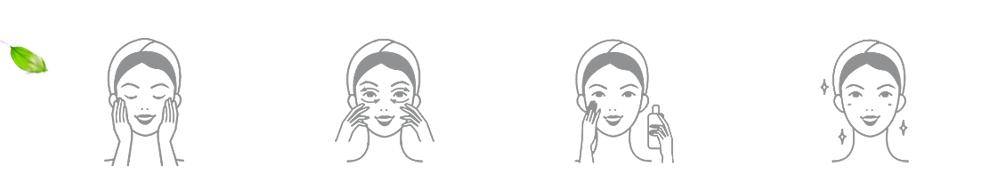 processo di applicazione di crema sul viso istruzioni