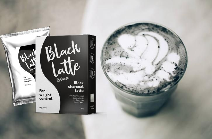 Black latte, carbone attivo