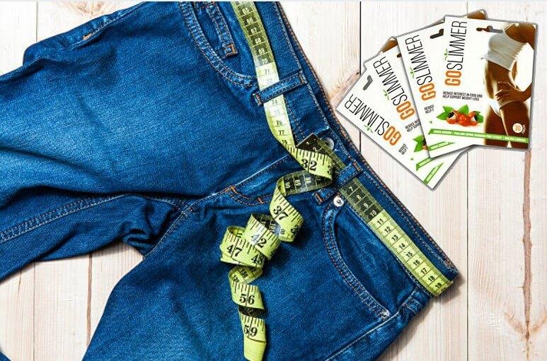 Goslimmer patch, jeans, centimetri