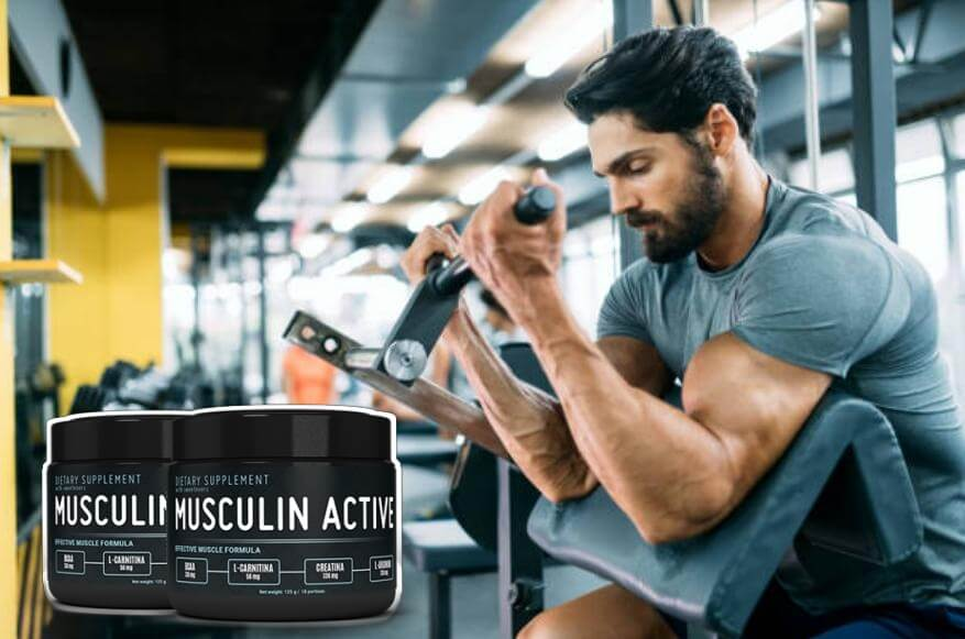 musculin active, uomo in forma fisica
