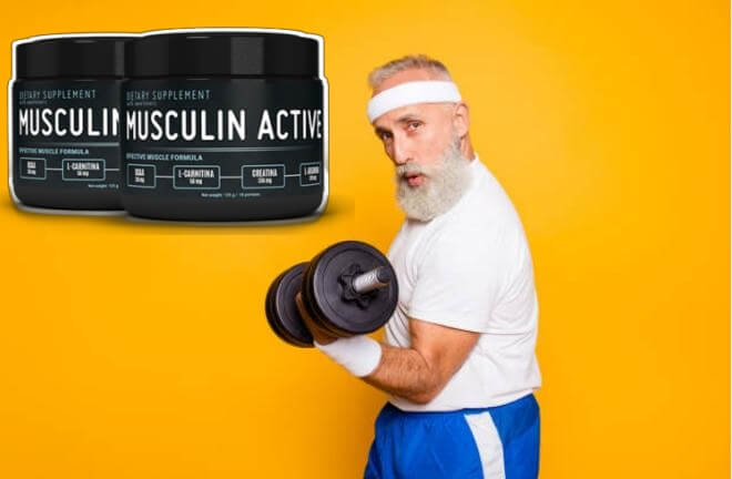 Musculin Active, uomo in palestra