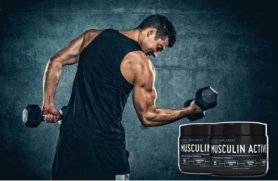 musculin active, uomo, allenamento per i muscoli