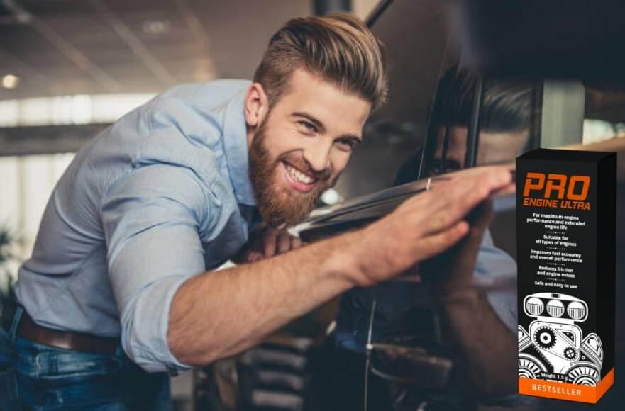 ProEngine Ultra, uomo felice, macchina