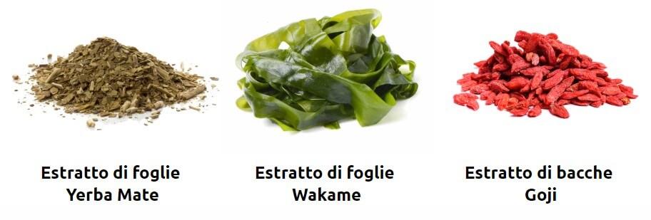 yerba mate, wakame, goji