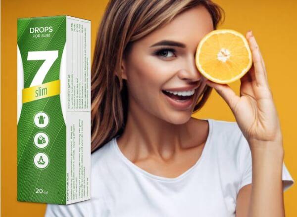7Slim, donna con arancia