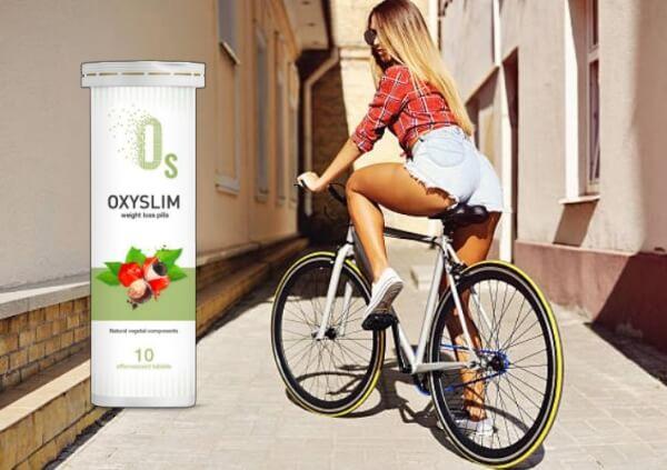 OxySlim, donna in bicicletta