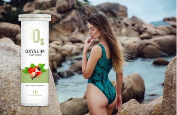 OxySlim, donna magra con costume da bagno
