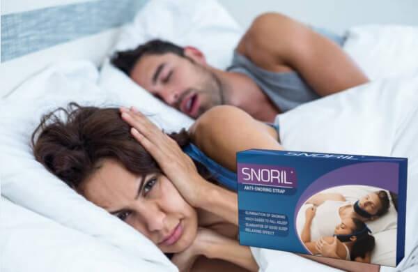snoril, uomo russare, la donna non può dormire