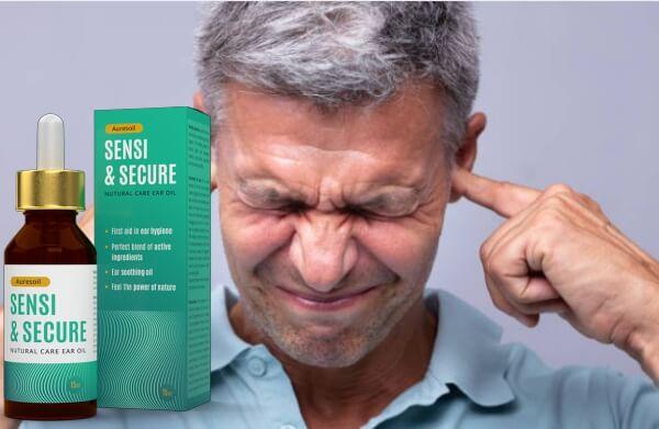 Auresoil Sensi & Secure, uomo con problemi all'orecchio