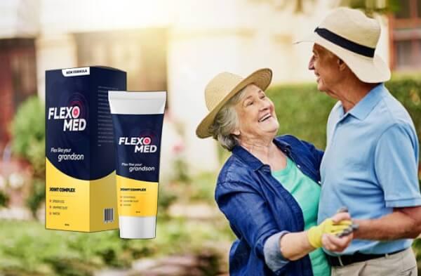 Flexomed, vecchia coppia che balla