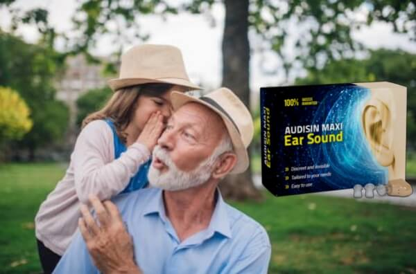 audisin maxi ear sound, uomo felice, bambino che bisbiglia