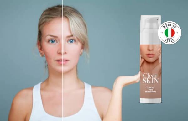 clear skin crema, effetti