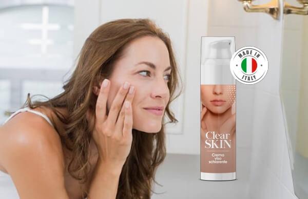clear skin crema, donna