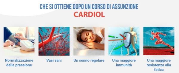 cardiol, effetti