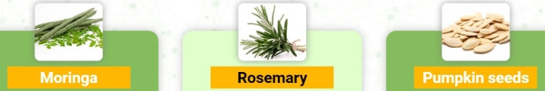 ingredienti moringa rosemary pumpkin seed