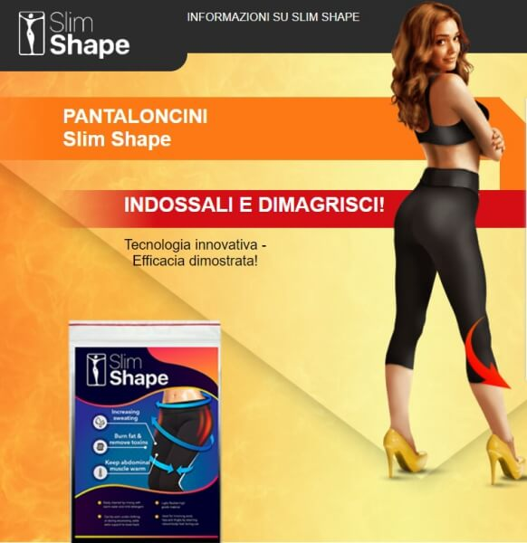pantaloncini slim shape