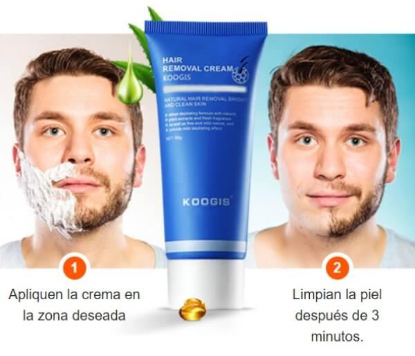 koogis razorless shaing crema, uomo, depilatoria, barba