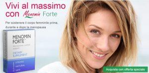 Menopausa? Prova le compresse Menomin Forte e torna a sorridere