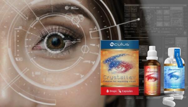 crystallex capsule, gocce, occhi