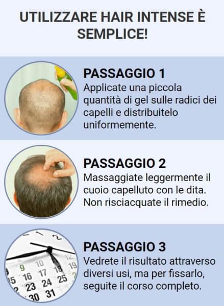istruzioni per l'uso HairIntense